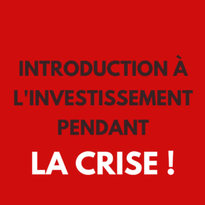 Introduction à l'investissement pendant la Crise livre